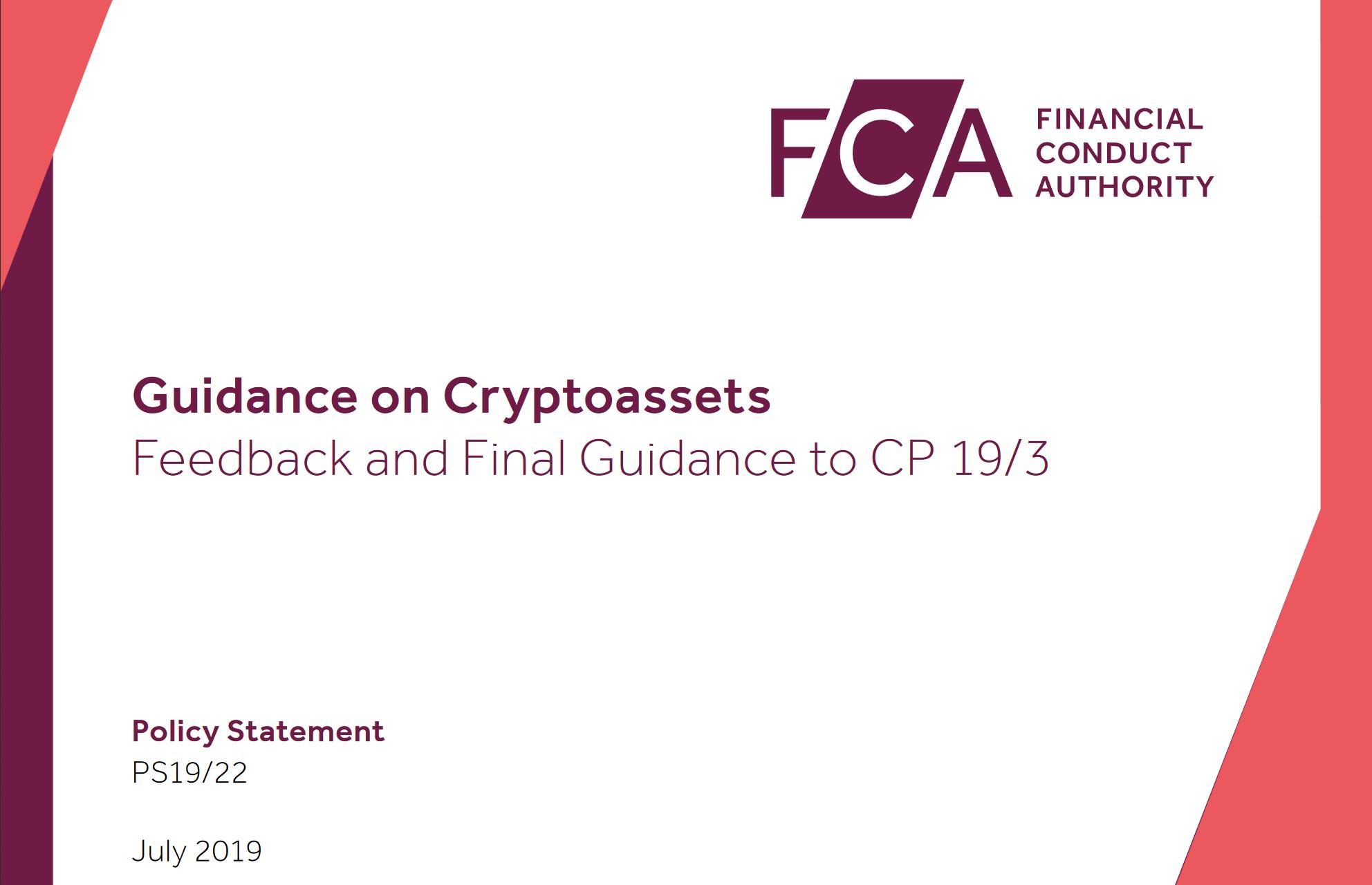 FCA Crypto Guidance