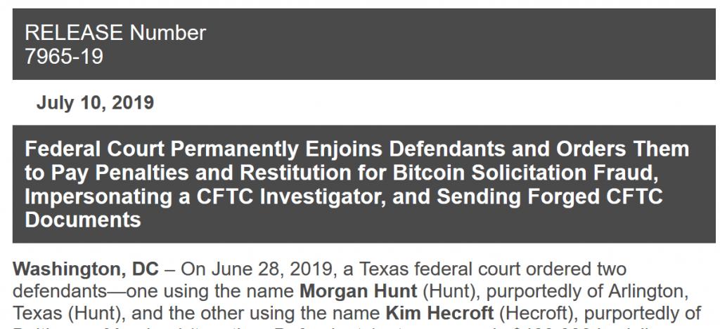 Morgan Hunt CFTC