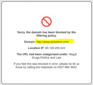 Locke Lord website blocked