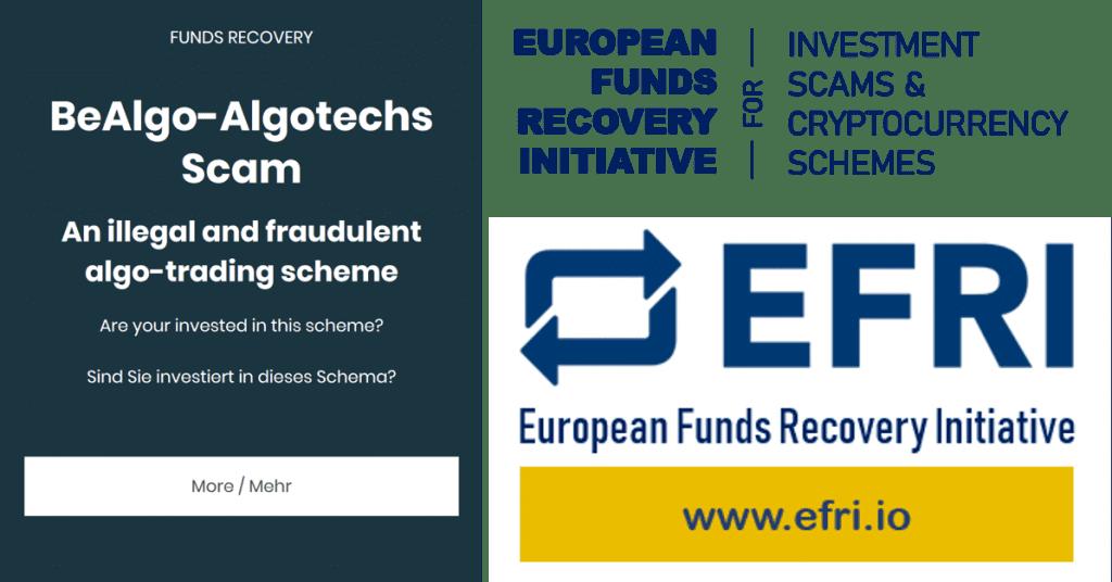EFRI campaign for BeAlgo and AlgoTechs scams