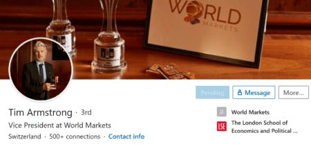 WorldMarkets scheme and Tim Armstrong