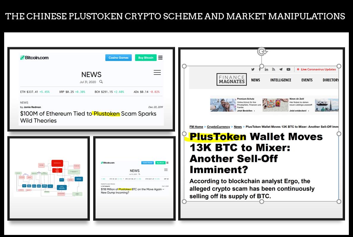 PlusToken Market Maniputaltion scheme