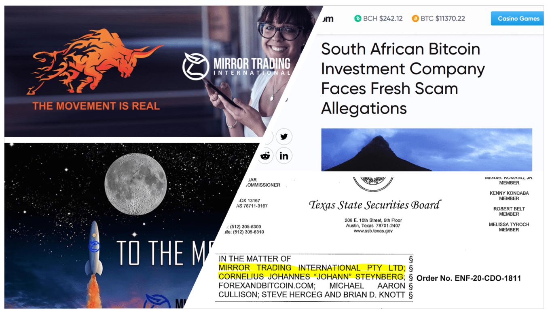 Investor Alert MIrror Trading International crypto forex MLM scheme