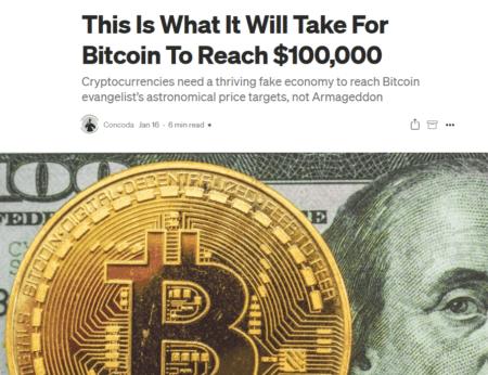 Bitcoin and Fake Economy