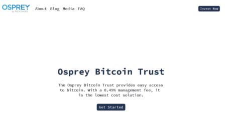 Osprey Bitcoin Trust