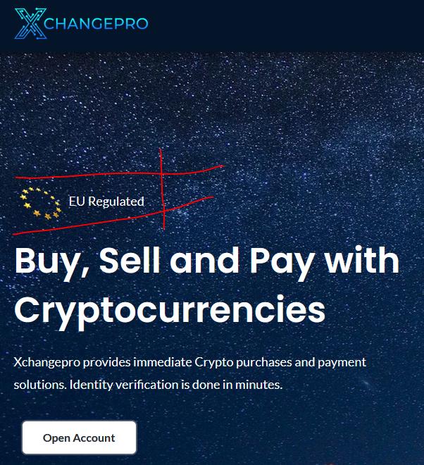 Estonian XChangePro crypto payment processor facilitating scams