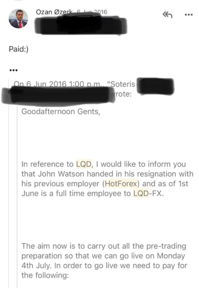 Ozan Ozerk hires John Watson for LQDFX broker scam