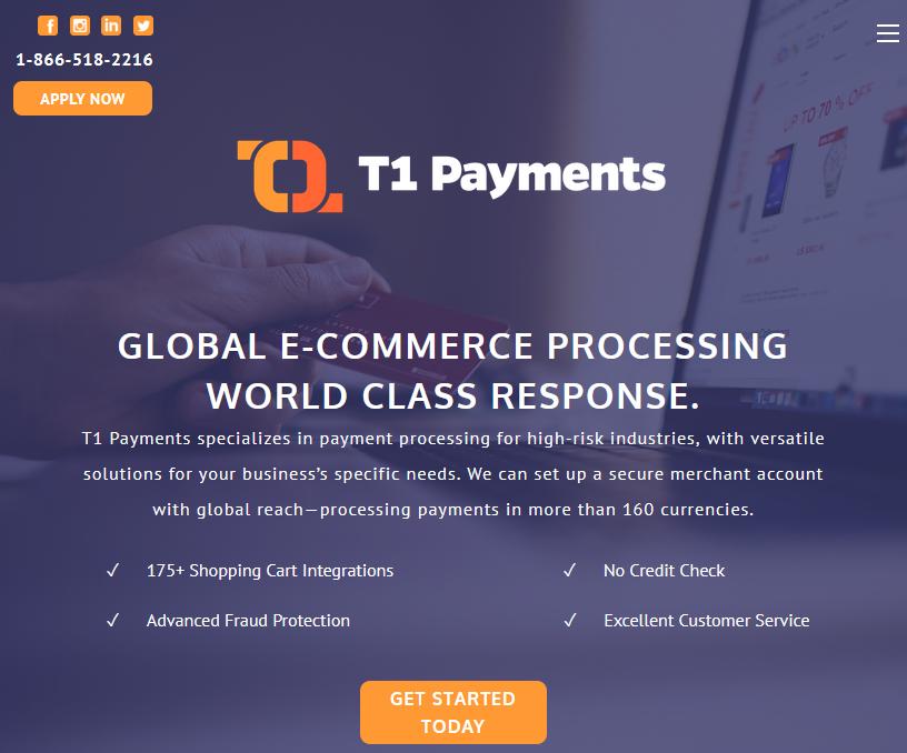 T1 Payments Website