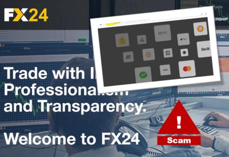 Investor warning FX24 broker scam with BridgerPay