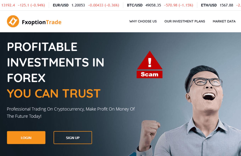 FXoptionTrade crypto scam