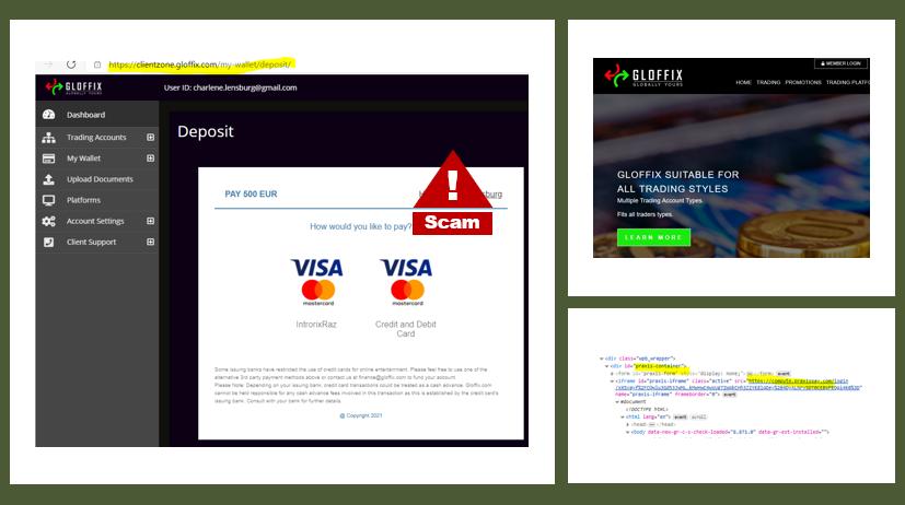 Investor Warning Gloffix Scam with Praxis Cashier