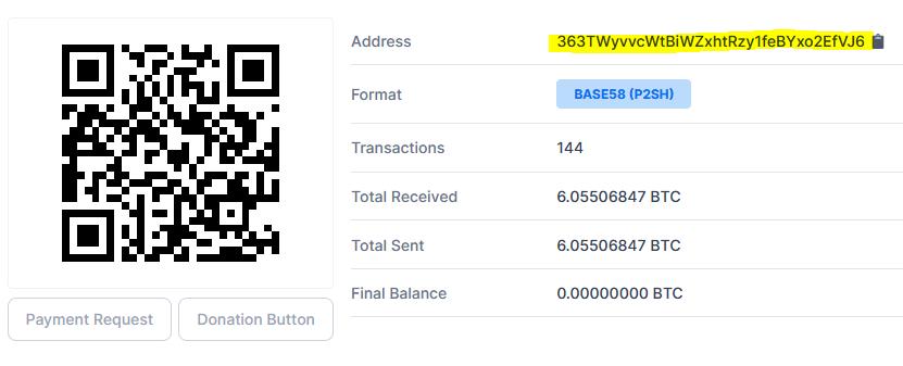 BTC address of UniteEX broker scam