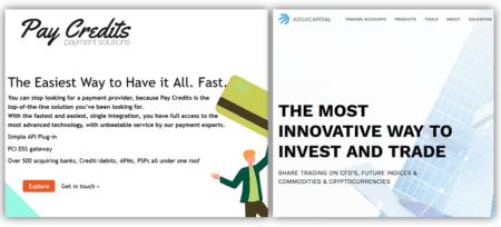 Investor warning AroxCapital facilitated by Pay Credits