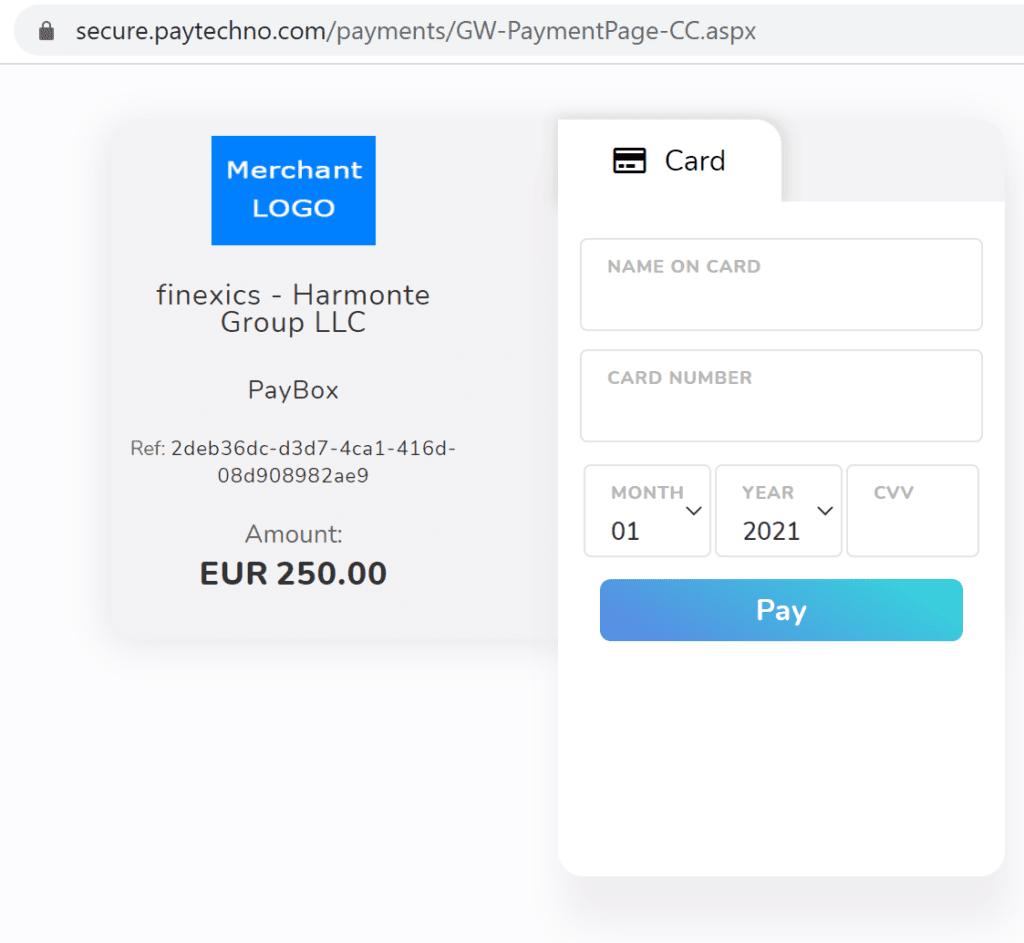 Finexico broker scam facilitated by Paytechno