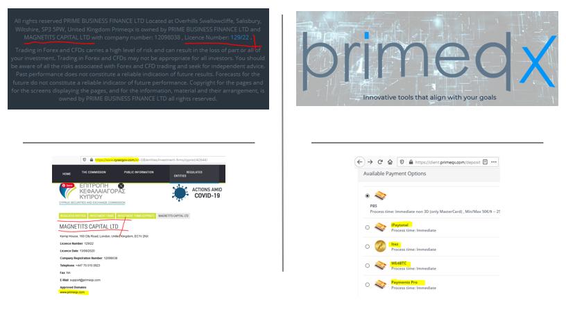FCA warns against PrimeQX broker scam