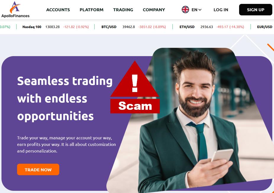 Investor warning Apollo Finances broker scam