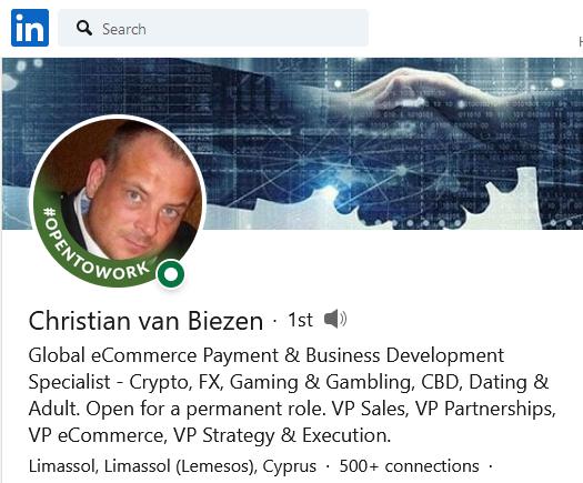 Crhistian van Biezen exposed the OctaPay fraud