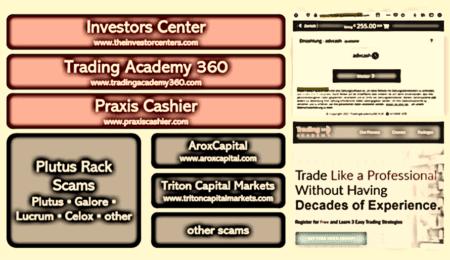 Investors Center and Trading Academy 360 scam facilitators