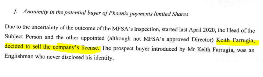 Maltese Paytah wanted to sell its MFSA license