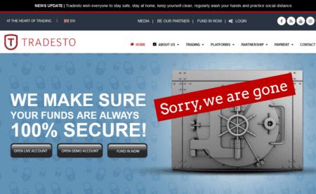Tradesto broker scam vanished
