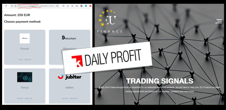 Investor warning EU Finance broker scam