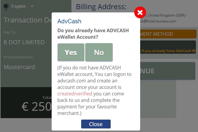 AdvCash facilitates El Comercio24 scam