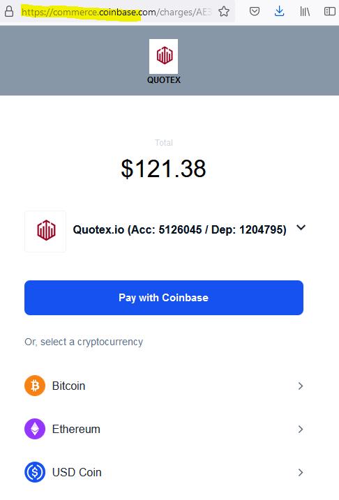 Coinbase facilitates illegally acting quotex broker