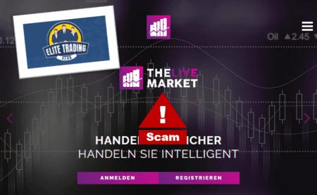 The Live Market broker scam