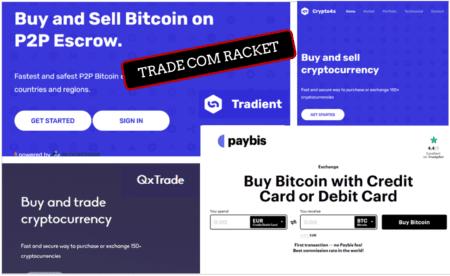 Trade Com Racket and its crypto payment facilitators