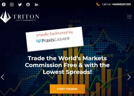 Broker scam Triton Markets facilitated by Praxis Cashier
