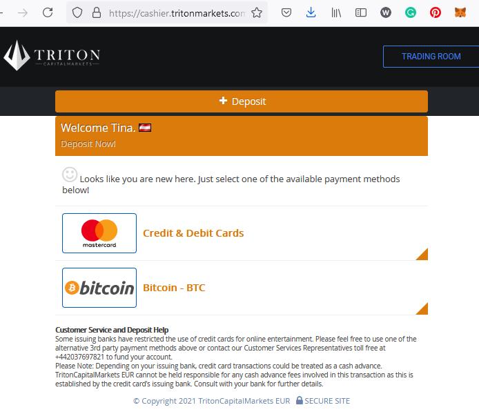 Triton Markets broker scam facilitated by Praxis Cashier