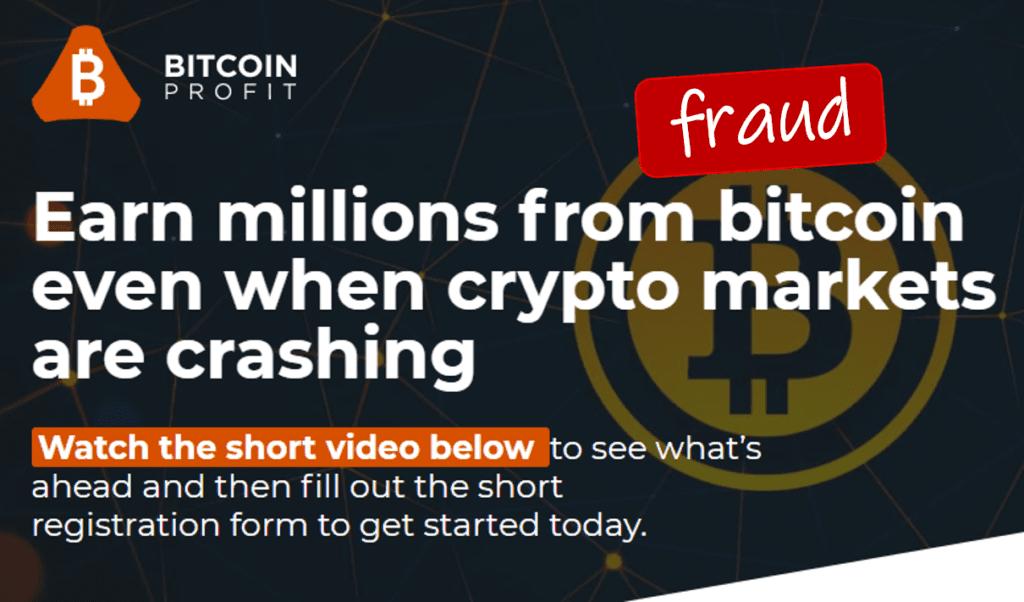 Bitcoin Profit marketing fraud facilitates broker scams and regulated brokers