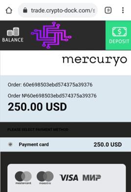 Estonian crypto payment processor mercuryo facilitates cryptodock scam