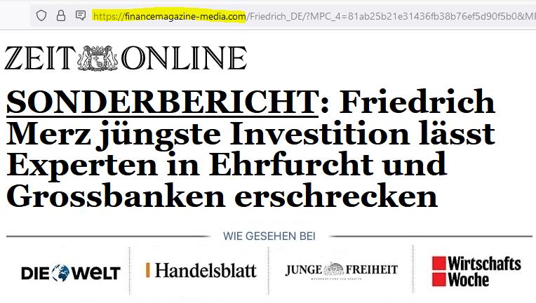 Fake Zeit online article praises Bitcoin Revolution and OculusTrade