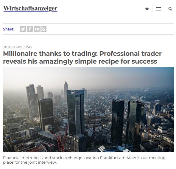 Fake article promoting Libertex in Wirtschaftsanzeiger