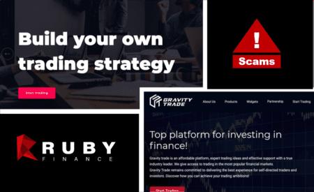 Investor warning gravity trade and rubyfinance broker scams