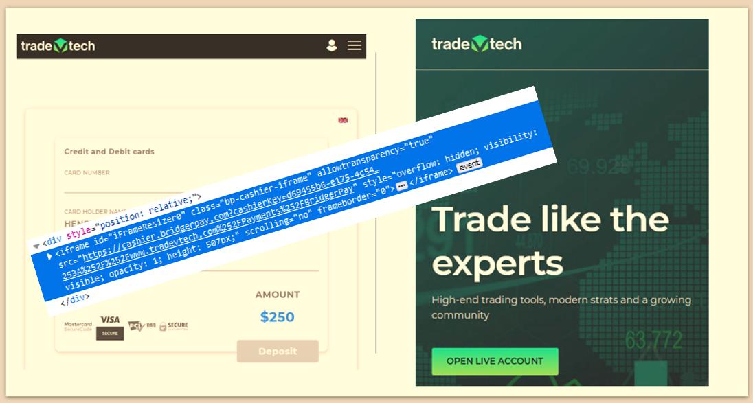 TradeVtech broker scam facilitated by BrdigerPay