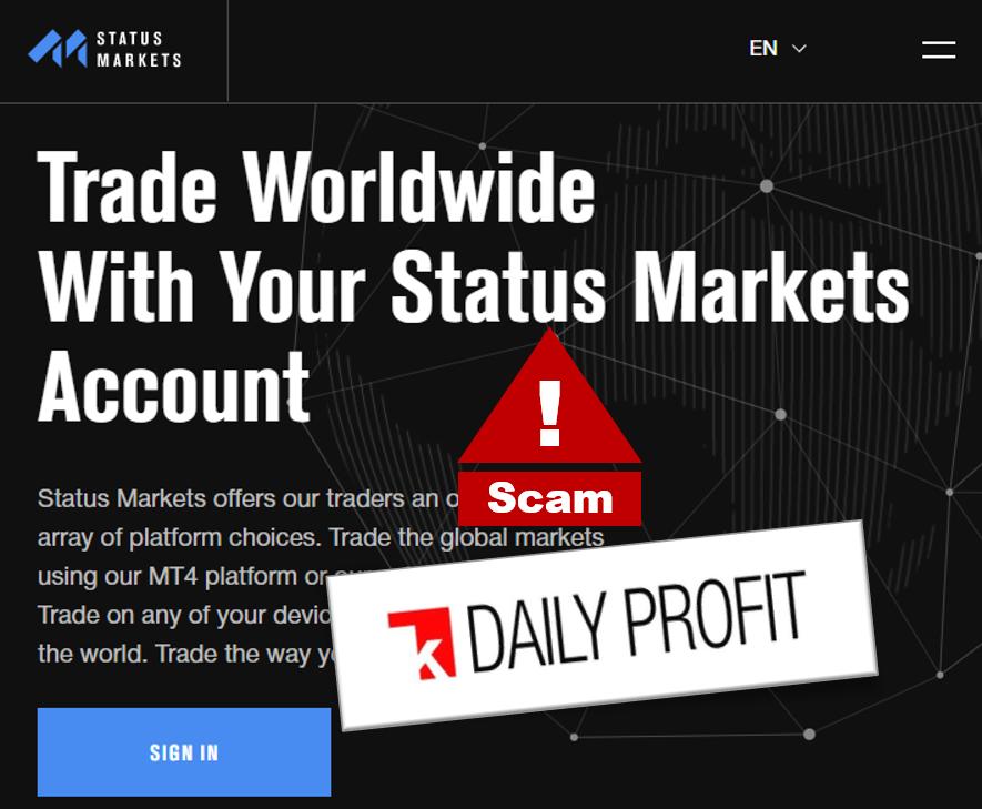 FCA warns against StatusMarkets broker scam