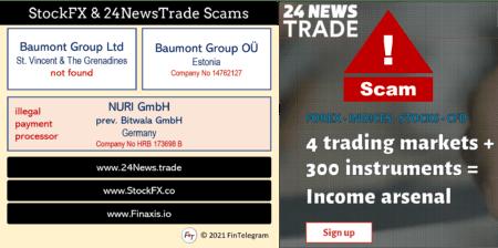 investor warning 24NewsTrade and StockFX
