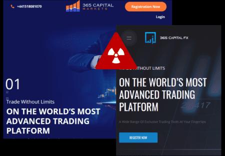 investor warning against 365CapitalFX and 365CapitalMarkets