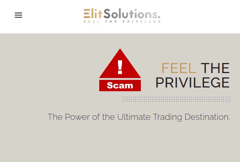 Investor warning against ElitSolutions