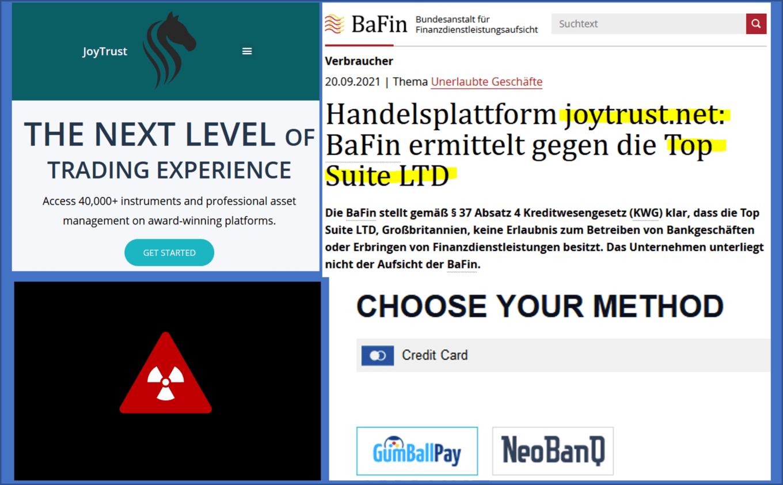 BaFin investigates JoyTrust broker scam