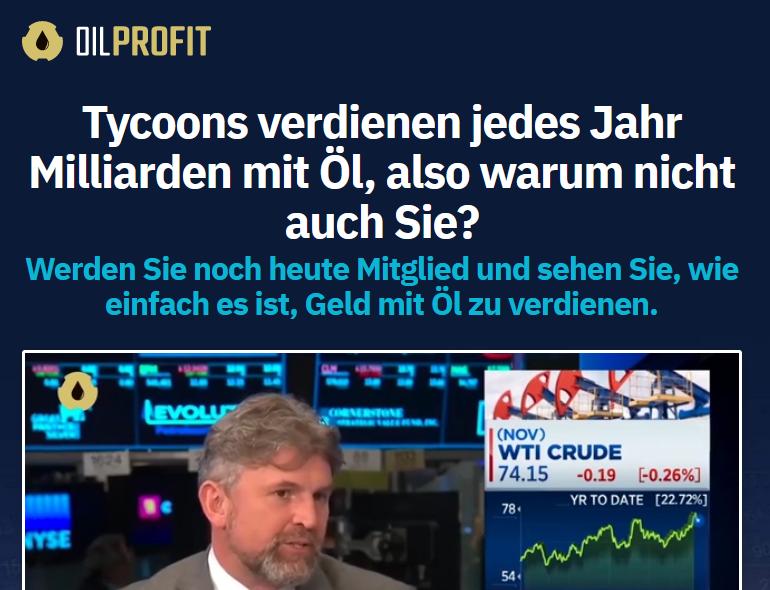 BaFin warns against OIL PROFIT fraud campaign