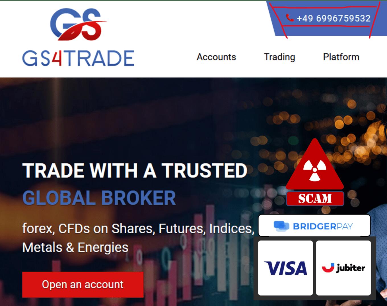 warning against Gs4Trade broker scam