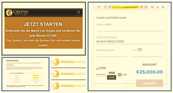 CySEC regulated Phoenix Markets deploys fraudulent Crypto VIP Club campaign